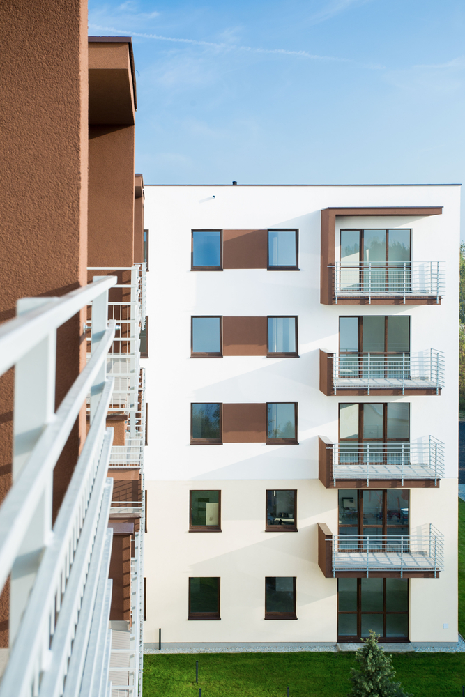 Block of flats at the new subdivision