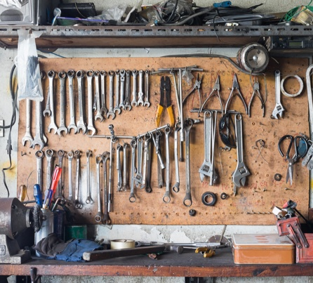 tools in workshop