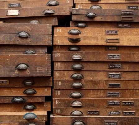 wood drawer stacks