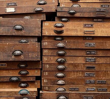 wood drawer stacks