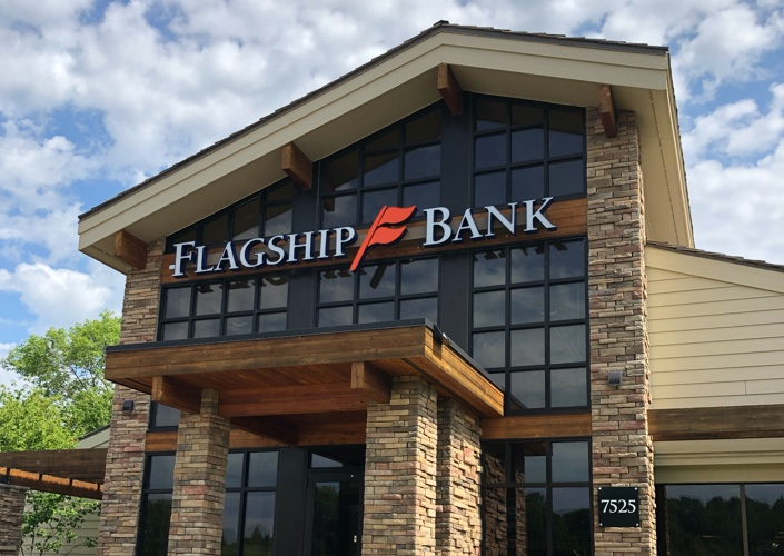 flagship bank front of building